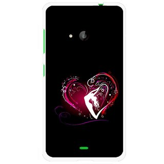 Snooky Printed Lady Heart Mobile Back Cover For Microsoft Lumia 535 - Black