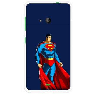Snooky Printed Super Hero Mobile Back Cover For Microsoft Lumia 535 - Blue