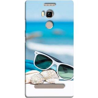 FUSON Designer Back Case Cover For Gionee Elife E8 (Summer Vacation Beach Mobile Wallpaper Blue Sky )