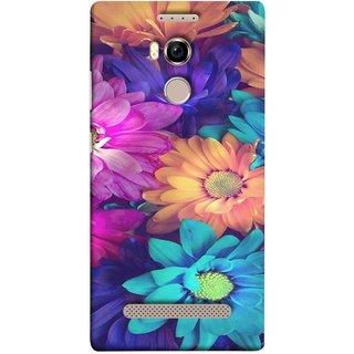 FUSON Designer Back Case Cover For Gionee Elife E8 (Fresh Wow Hd Gerbera Flowers Pink Blur Orange)