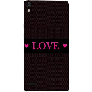 FUSON Designer Back Case Cover For Huawei Ascend P6 (Best Gift For Valentine Friends Lovers Couples Baby Pink Red )