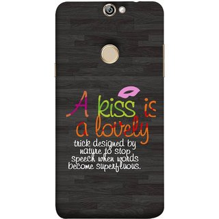 FUSON Designer Back Case Cover For Coolpad Max A8 (Words Superfluous To Stop Speech Become Stop)