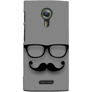 FUSON Designer Back Case Cover For Alcatel Flash 2 :: Alcatel Onetouch Flash 2 (Mustache Glasses T-Shirt Young Boys Back Cover)