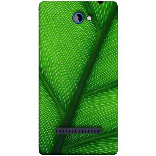 FUSON Designer Back Case Cover For HTC Windows Phone 8S :: HTC 8S (Bright Green Leaf Of Tree Full Of Life Network Of Veins)