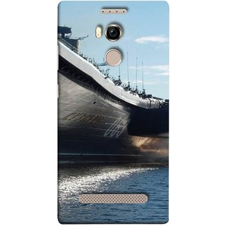 FUSON Designer Back Case Cover For Gionee Elife E8 (Indian Submarine Shoots Ship With Missile Training )