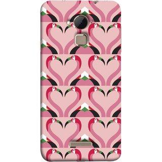 FUSON Designer Back Case Cover For Coolpad Note 3 Lite :: Coolpad Note 3 Lite Dual SIM (Flamingos Head In Heart Shape Tattoo Design)