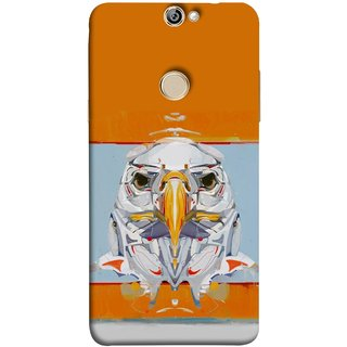FUSON Designer Back Case Cover For Coolpad Max (Stearing Eyes Deadly Look Canvas Vision Bird Sky High)