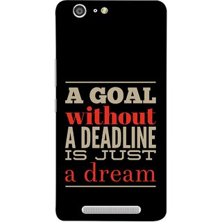 FUSON Designer Back Case Cover For Gionee Marathon M5 (Big Goals Achievments Finishing Lines Is Not Possible )