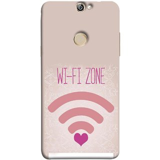 FUSON Designer Back Case Cover For Coolpad Max (Love Wifi Zone Connect With Lovers Couples Hearts)