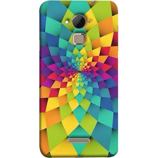 FUSON Designer Back Case Cover For Coolpad Note 3 Lite :: Coolpad Note 3 Lite Dual SIM (Polygonal Background Colorful Abstract Geometric Best)