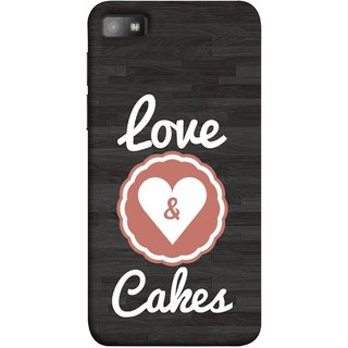 FUSON Designer Back Case Cover For BlackBerry Z10 (Heart Shape Cakesbest Perfect Wow Pyar Prem)