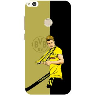 Snooky Printed Sports Player Mobile Back Cover For Huawei Honor 8 Lite - Black