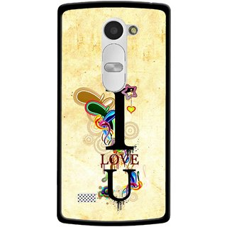 Snooky Printed Love You Mobile Back Cover For Lg Leon - Yellow