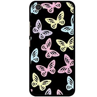 Snooky Printed Butterfly Mobile Back Cover For Vivo V5 - Multi