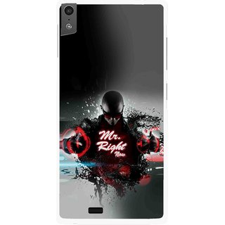 Snooky Printed Mr.Right Mobile Back Cover For Gionee Elife S5.5 - Multi
