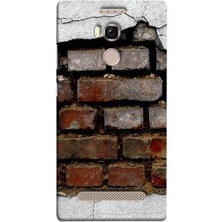 FUSON Designer Back Case Cover For Gionee Elife E8 (Peeling Plaster Bricks White Cement Broken Small Big)