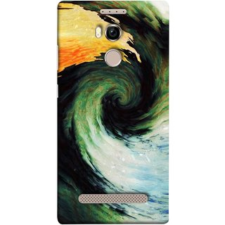 FUSON Designer Back Case Cover For Gionee Elife E8 (Galaxy Universe Lava Icy Water Green Land )