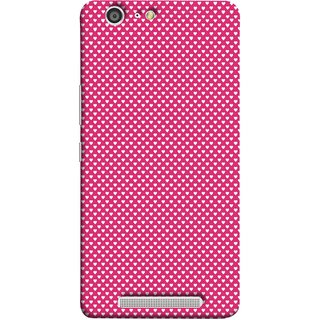 FUSON Designer Back Case Cover For Gionee Marathon M5 (Valentine Pink Metallic Hearts Cool Peace Sign Symbol)