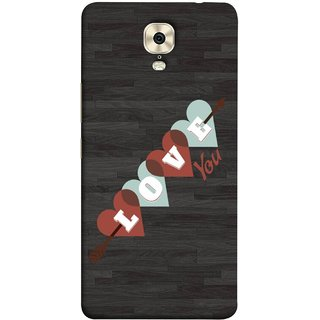 FUSON Designer Back Case Cover For Gionee M6 (Grey Plywood Sunmica Best Perfect Wow Pyar Prem)