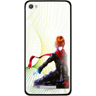 Snooky Printed Stylo Boy Mobile Back Cover For Micromax Canvas Hue 2 - Multi
