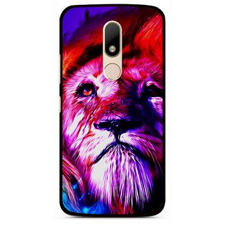 Snooky Printed Freaky Lion Mobile Back Cover For Motorola Moto M - Multi