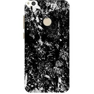 Snooky Printed Rocky Mobile Back Cover For Huawei Honor 8 Lite - Black