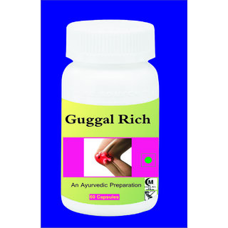 Hawaiian Herbal, Hawaii,USA - Guggal Rich Capsule - 60 Capsules (Buy any Healthcare Supplement  Get the Same Drops Free)