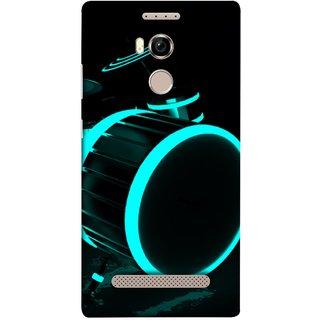 FUSON Designer Back Case Cover For Gionee Elife E8 (Lighted Drums Led Light Up Drum Set Drum Lights )
