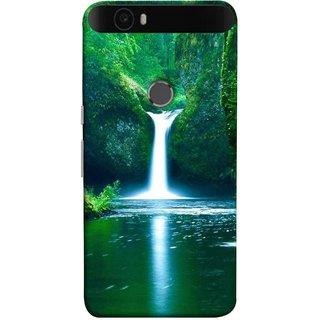 FUSON Designer Back Case Cover For Huawei Nexus 6P :: Huawei Google Nexus 6P (Mountains & Waterfalls Images Green Lake Desktop)