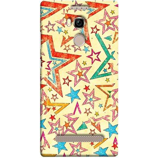 FUSON Designer Back Case Cover For Gionee Elife E8 (Vector Abstract Background Of Colorful 3D Stars)