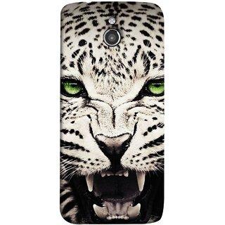 FUSON Designer Back Case Cover For InFocus M2 (Jungle King Stearing Angry Roaring Loud Aslan Panther)