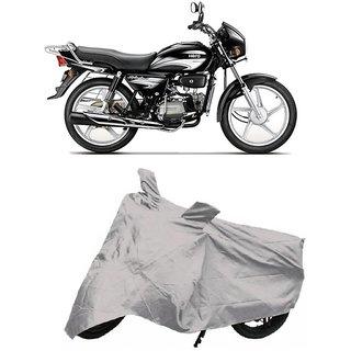 De Autocare Premium Quality Silver Matty Two Wheeler Bike Body Cover For Hero Splender Plus