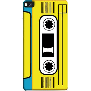 FUSON Designer Back Case Cover For Huawei P8 (Tape Cassette Black Film Screws Old Player)