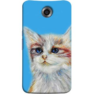 FUSON Designer Back Case Cover For Motorola Nexus 6 :: Motorola Nexus X :: Motorola Moto X Pro :: Google Nexus 6 (Dog Cat Kitten Whisker Puppy Triangle Rectangle)