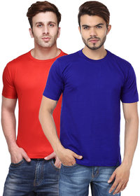 K-TEX Round Neck Classic TShirts Pack Of 2