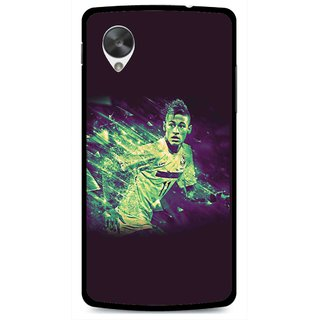 Snooky Printed Running Boy Mobile Back Cover For Lg Google Nexus 5 - Multi