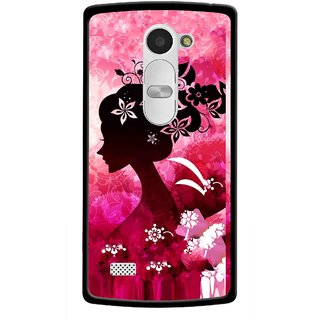 Snooky Printed Pink Lady Mobile Back Cover For Lg Leon - Pink