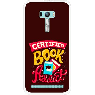 Snooky Printed Reads Books Mobile Back Cover For Asus Zenfone Selfie - Brown