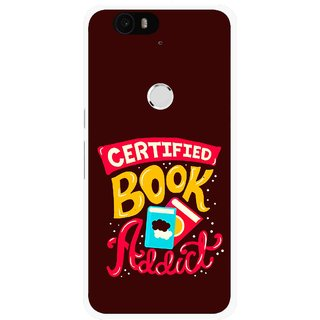 Snooky Printed Reads Books Mobile Back Cover For Huawei Nexus 6P - Brown
