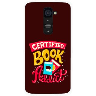Snooky Printed Reads Books Mobile Back Cover For Lg G2 - Brown
