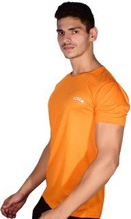 Scoop dry-fit orange round neck short-sleeve