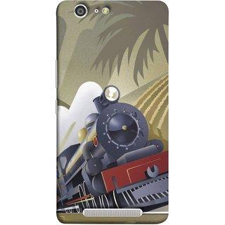 FUSON Designer Back Case Cover For Gionee Marathon M5 (British Steam Engine Trains Express Mail )