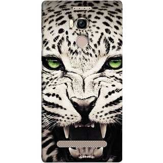 FUSON Designer Back Case Cover For Gionee Elife E8 (Jungle King Stearing Angry Roaring Loud Aslan Panther)