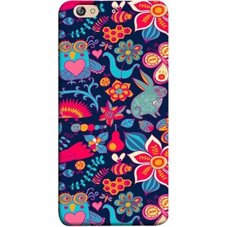 FUSON Designer Back Case Cover For Gionee Elife S7 (Blue Background Leaves Farm Fruits Food Honey Bee)