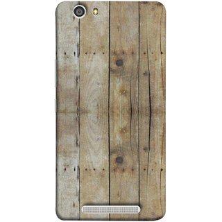 FUSON Designer Back Case Cover For Gionee Marathon M5 Lite (Wooden Back Cover Plates Nails Cracks Joints)