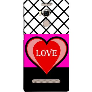 FUSON Designer Back Case Cover For Gionee Elife E8 (Pink Red Wallpapers Flowers Lovers Boyfriends Black)