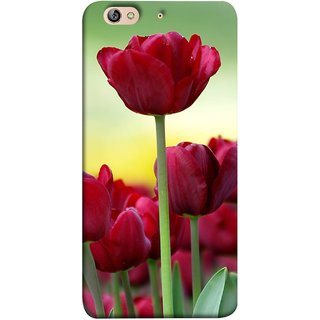 FUSON Designer Back Case Cover For Gionee Elife S7 (Dark Bold Red Roses Chocolate Hearts For Valentines Day)