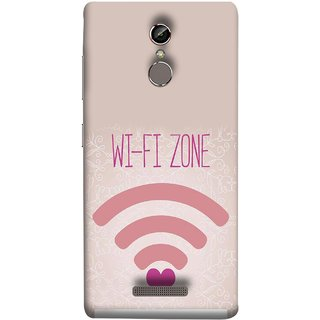 FUSON Designer Back Case Cover For Gionee S6 (Love Wifi Zone Connect With Lovers Couples Hearts)