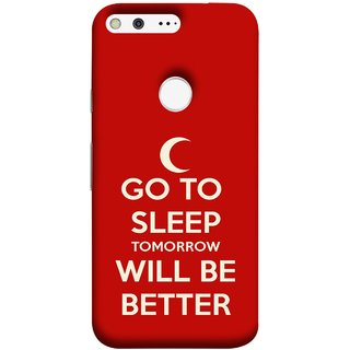 FUSON Designer Back Case Cover For Google Pixel XL (Moon Night Rest Relax Tomorrow Will All Fine )