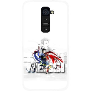 Snooky Printed Messi Mobile Back Cover For Lg G2 - White